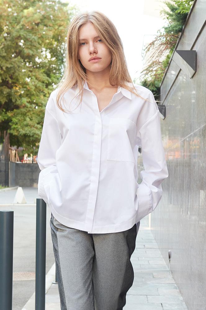 Сорочка біла оверсайз 2 (Р 87)