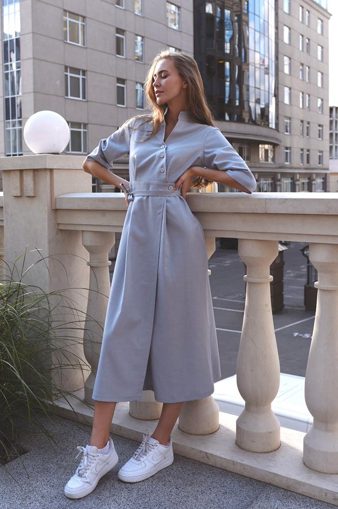 Сукня блакитна асиметрія (П 74)